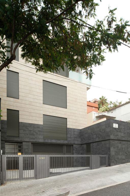 fachadas ventiladas de Sistema Masa con revestimiento porcelanico